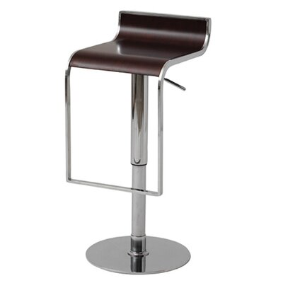 Nuevo Nero Adjustable Bar Stool in Dark Wood