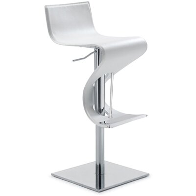 Nuevo Portland Adjustable Bar Stool in White