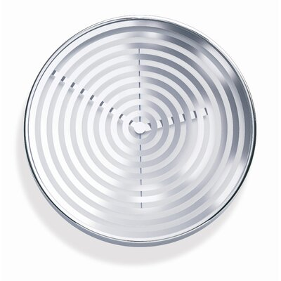 Concentric Clock in Silver / White