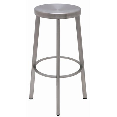 Nuevo Industry Bar Stool in Silver