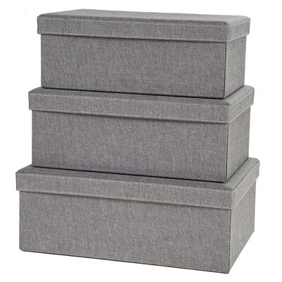 Creative Scents Gray Birch Storage Box (Set of 3)