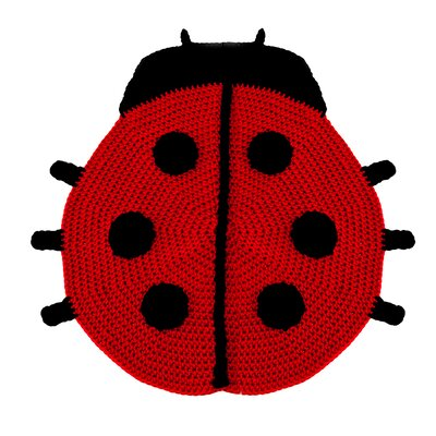 Peanut Butter Dynamite Crochet Lady Bug Kids Rug