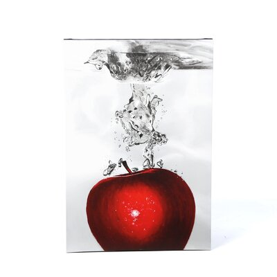 "<strong>Trademark Fine Art</strong> Red Apple Splash by Roderick Stevens, Canvas Art - 32"" x 22"""