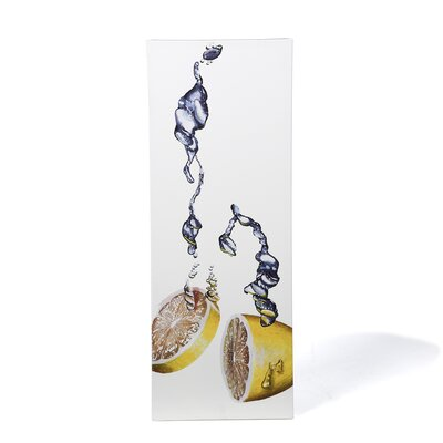 "<strong>Trademark Fine Art</strong> Lemon Splash II by Roderick Stevens, Canvas Art - 32"" x 12"""