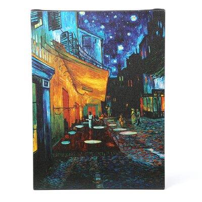 "Trademark Fine Art ""Café Terrace"" by Vincent Van Gogh Painting Print on Canvas"