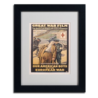 Victor Tardieu 'Our American Boys' Matted Framed Art