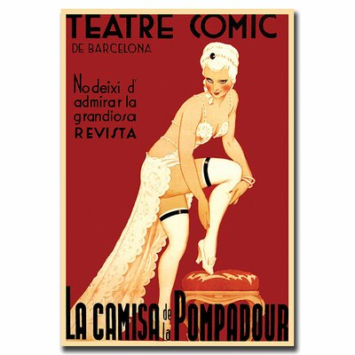 "Trademark Fine Art Teatre Comic de Barcelona, Traditional Canvas Art - 24"" x 18"""