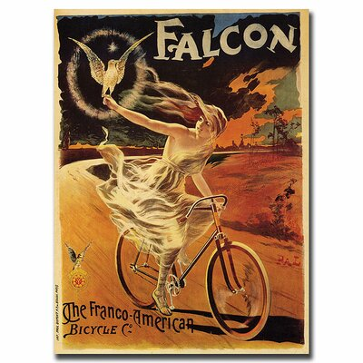 Falcon by Pal, Traditional Framed Canvas Art - 24