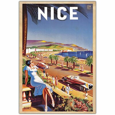 "Trademark Fine Art Nice by Eff de Hey, Traditional Canvas Art - 32"" x 22"""
