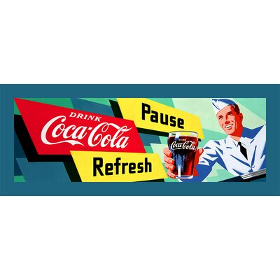 Trademark Fine Art Coca Cola Coke Waiter Stretched Canvas Print