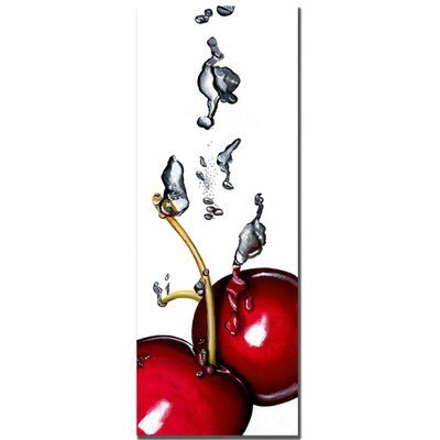 Trademark Fine Art 'Cherry Splash II' by Roderick Stevens Photographic Print on Canvas