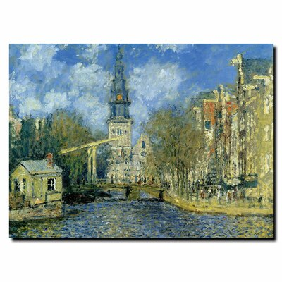 "Trademark Fine Art The Zuiderkerk at Amsterdam by Claude Monet, Canvas Art - 24"" x 32"""