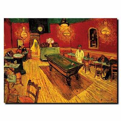 "Trademark Fine Art The Night Cafe by Vincent Van Gogh, Canvas Art - 14"" x 19"""