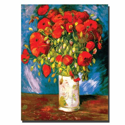 "Trademark Fine Art Poppies by Vincent Van Gogh, Canvas Art - 32"" x 24"""