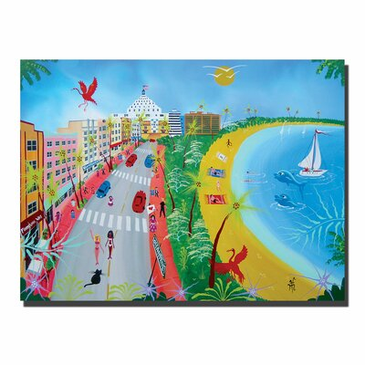 "Trademark Fine Art Ocean Drive by Herbert Hofer, Canvas Art - 24"" x 32"""