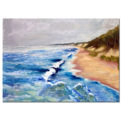 "Trademark Fine Art Lake Michigan Beach with Whitecaps I by Michelle Calkins, Canvas Art - 24"" x 36"""