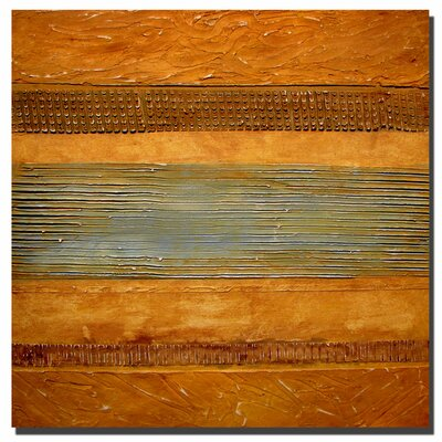 "Trademark Fine Art Earth Layers Abstract II by Michelle Calkins, Canvas Art - 24"" x 24"""