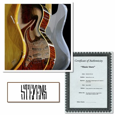 Trademark Fine Art Music Store by Roderick Stevens Canvas Art