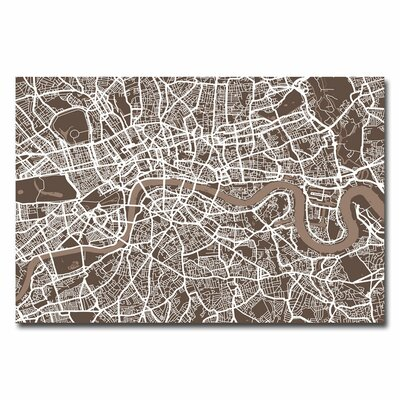 London Street Map I by Michael Tompsett Graphic Art on Canvas in Brown