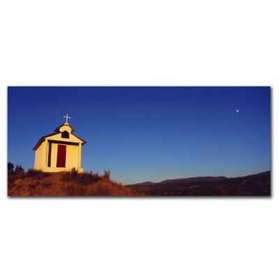 'Church with Moon' by Preston Photographic Print on Canvas