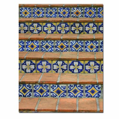 'Blue and Yellow Tiles' Canvas Art