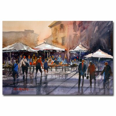 'Outdoor Market - Rome' by Ryan Radke Painting Print on Canvas