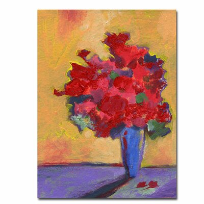 'Contemporary Bouquet' by Sheila Golden Painting Print on Canvas
