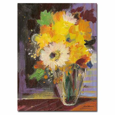 "Trademark Fine Art ""Glass Vase"" by Sheila Golden Painting Print on Canvas"
