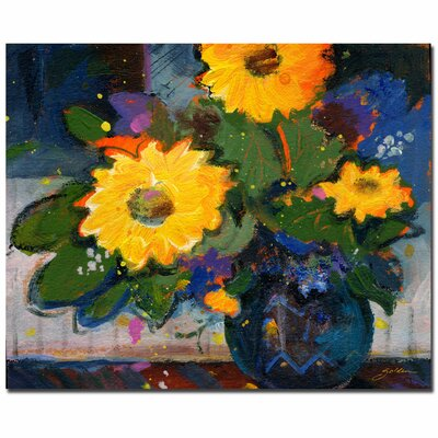 Trademark Fine Art 'Tree Yellow Flowers' Canvas Art