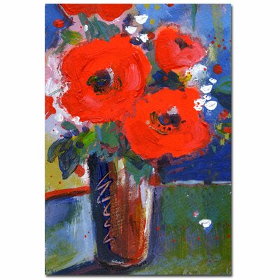 'Bouquet II' by Sheila Golden Painting Print on Canvas