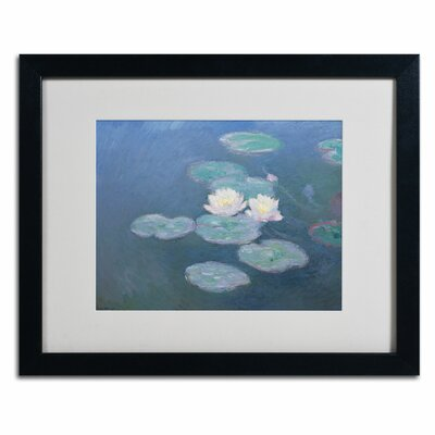 "Trademark Fine Art ""Waterlilies Evening"" Framed Art"