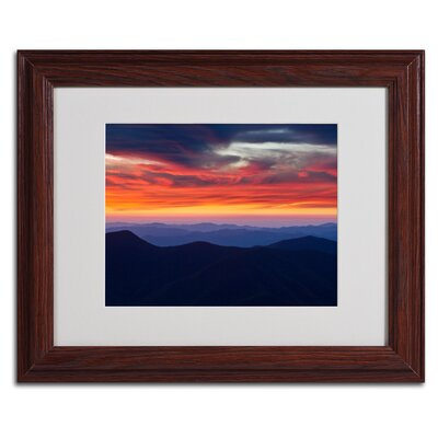 "Trademark Fine Art ""Mount Mitchell Sunset"" Matted Framed Art"