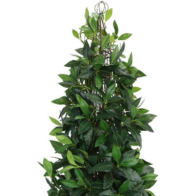 Laura Ashley Home Silk Bay Leaf Tower Vine Topiary in Urn