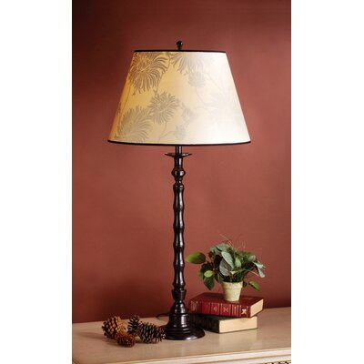 Laura Ashley Home Ripple Table Lamp with Chrysanthemum Shade