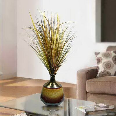 Onion Grass in Reactive Glaze Ceramic Container