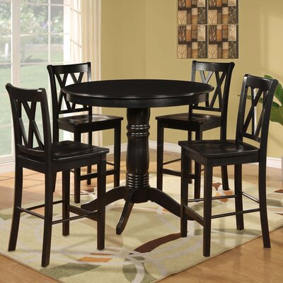 dorel asia 5 piece counter height pub set