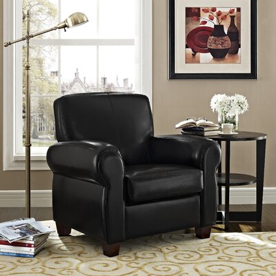 Austin Faux Leather Rolled Arm Club Chair