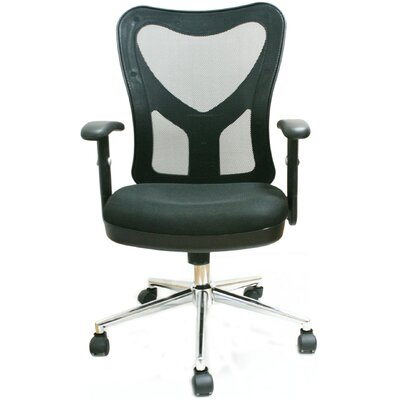 Techni Mobili Mid-Back Mesh Fully-Adjustable Office Chair