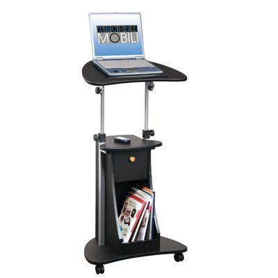 Techni Mobili Adjustable Deluxe Rolling Laptop Cart
