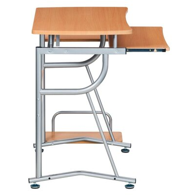Techni Mobili Compact Computer Desk with Keyboard Tray and Side