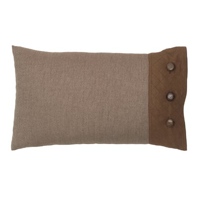 Baxter Polyester Side Button Closure Decorative Pillow