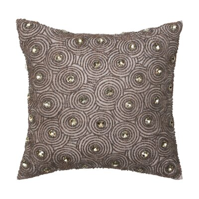 Corinne Polyester Circular Beading Decorative Pillow