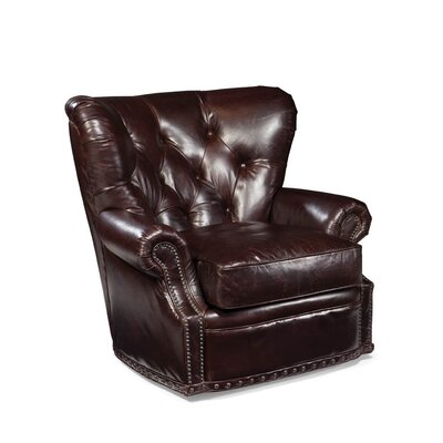 Baron Leather Swivel Chair