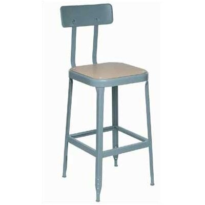 Lyon Workspace Products Stool with Wood Seat and Back