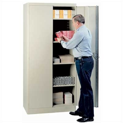"Lyon Workspace Products 1000 Series 36"" Wide Storage Cabinet:  78"" H x 36"" W x 18"" D"