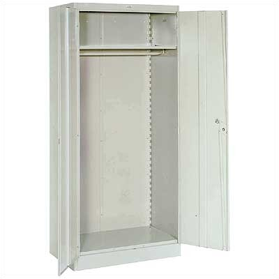 "Lyon Workspace Products 1000 Series 36"" Wide Wardrobe Cabinet:  78"" H x 36"" W x 24"" D"