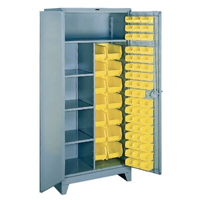 "Lyon Workspace Products All-Welded  Combination/Bin Cabinet: 78"" H x 36"" W x 21"" D"