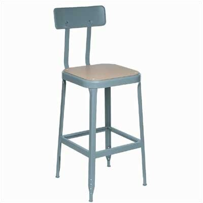 Lyon Workspace Products Pressed Wood Stool with Footrest and Back Support