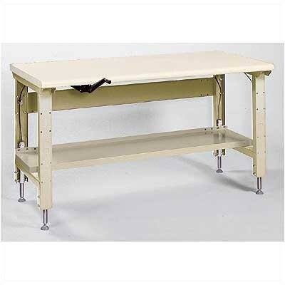 Lyon Workspace Products Ergo-Bench Work Station with Stringer: 60&quot; W x 28&quot; D