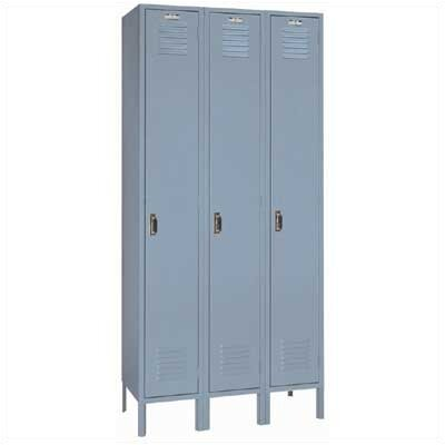 Lyon Workspace Products Single Tier Locker - 3 Sections (Unassembled)